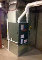 Furnace installation.