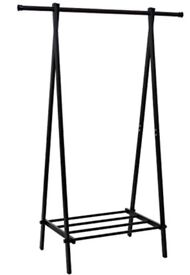 Collapsable clothes hanging rail with shoe unit