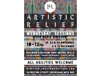 Wednesday morning Art Class - mixed media workshop, all abilities welcome
