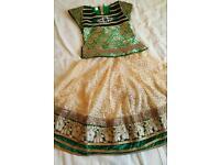 Kids anarkali lehnga choli indian pakistani asian punjab I girls party wedding dress