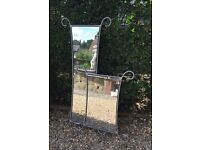 Mirrors with Metal Scroll Frame