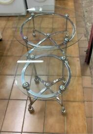 Set of Modern Glass Tables