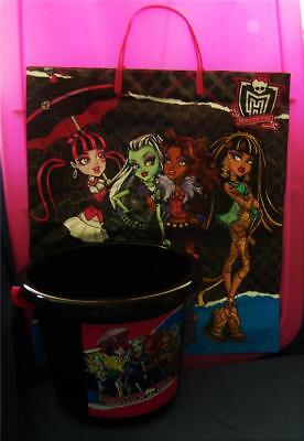 Monster High Plastic Bucket Pail Favor Container with Large Trick or Treat Bag](Monster High Halloween Treat Bags)