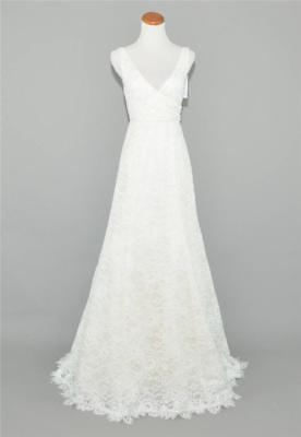 J.CREW $2,200 SARA FLORAL LACE WEDDING GOWN SZ 6 IVORY BRIDAL DRESS