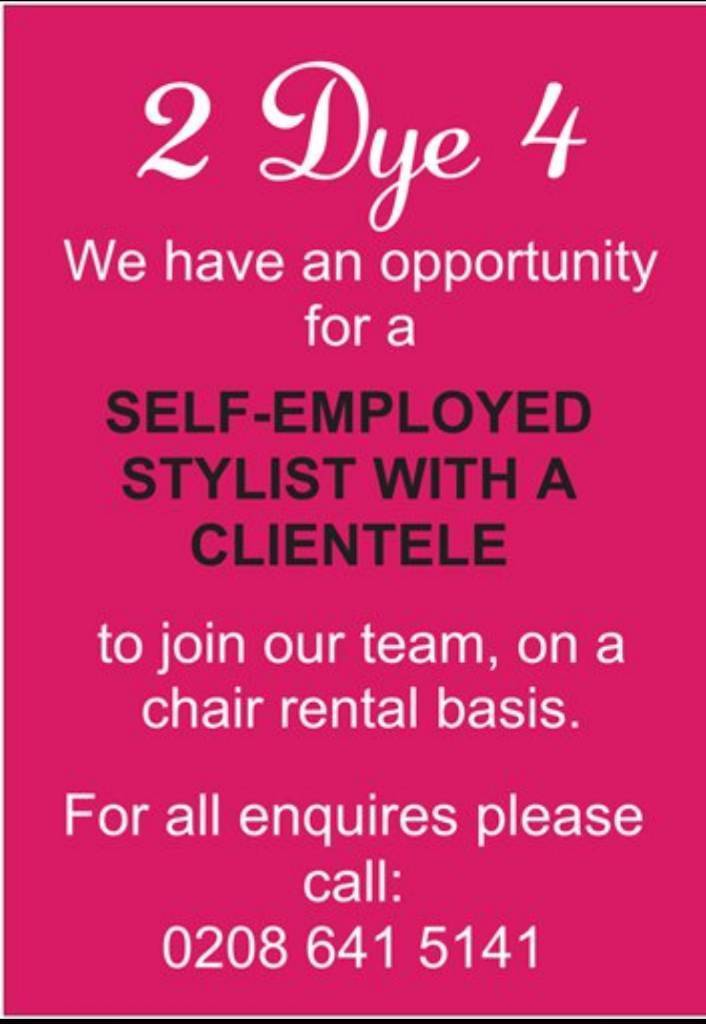 Self Employed Stylist with clientele