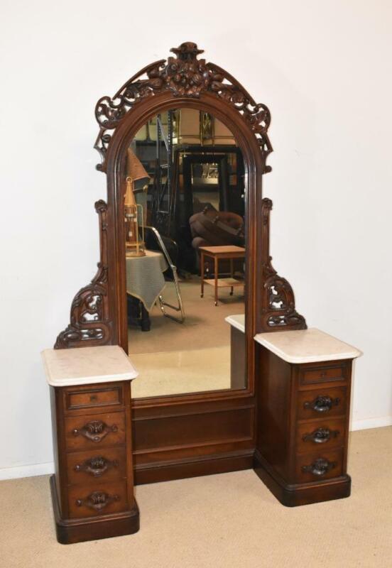 Victorian Dressing Mirror Vanity Circa: 1880