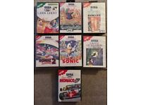 Master system games £10 each