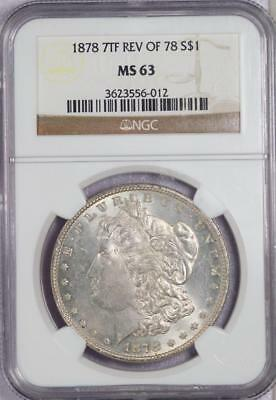 1878 7TF Rev of 78 Morgan Silver Dollar NGC MS63 - *DoubleJCoins* 2003-41