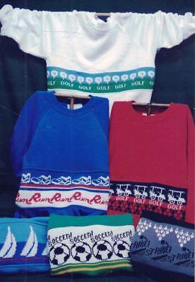 Gini Woodward All American Sports Series 2 Knitting Machine Pattern 2892/B