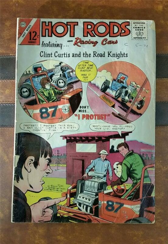 HOT RODS and RACING CARS COMIC No.75 SILVER CHARLTON AUG 1965 12c * CHEATIN FINK
