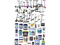 protein supplements & children's electric scooters