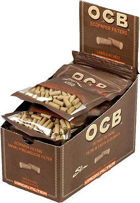 1 Box = 10 x 150 Stück OCB Unbleached - ungebleicht - virgin slim Filter 6mm