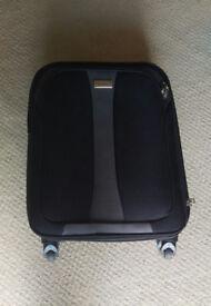 suitcase black on wheel handle slimbridge