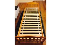 Mothercare solid wood toddler bed and mattress. Excellent condition
