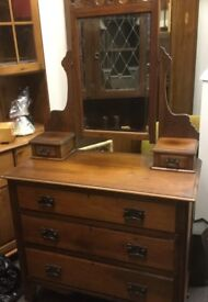 Arts and Crafts Dressing Table.