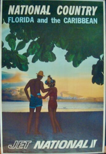NATIONAL AIRLINES FLORIDA AND CARIBBEAN Vintage 1950