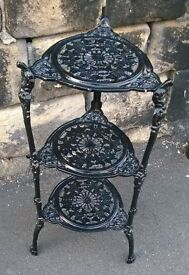 Cast iron plant stand 3 tier