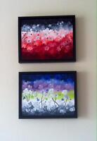 Two framed paintings for sale