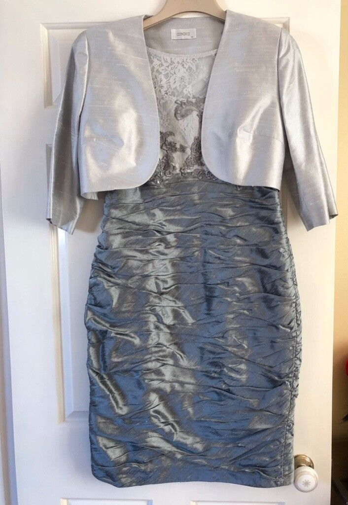 83498f86a1a4 Mother of the Bride Complete Outfit Silver Grey Size 12