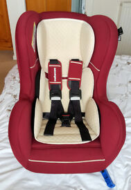 Mothercare carseat - birth-18kg (group 0+-1) - red and cream - rarely used
