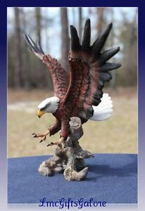 New Soaring Bald Eagle Statue Wings Spread Claws Sculpture Statue Figurine 8