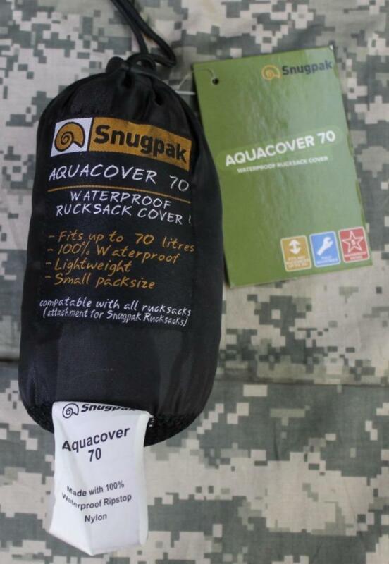 Snugpak 92148 Aquacover 70 Rucksack Cover Black 100% Waterproof Lightweight