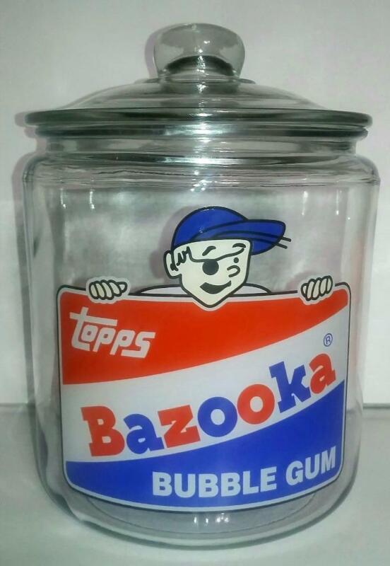 A RARE Bazooka Bubble Gum Glass Counter Jar