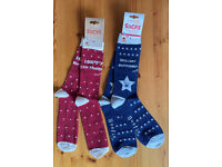 2 X NEW PAIRS OF SOCKS WITH BOOFLE DOG DESIGN