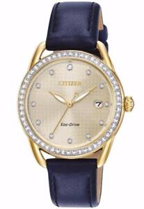 Citizen Eco-Drive FE6112-09P Ladies LTR Crystal Watch
