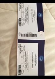 Country to country tickets tonight at the 02 .... two tickets £60 pounds each