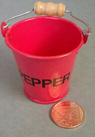 miniature metal pepper bucket
