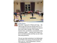 Get fit at pilates class