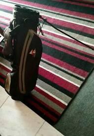 Hippo Golf/Cart Bag + Cover (Black & Gold)