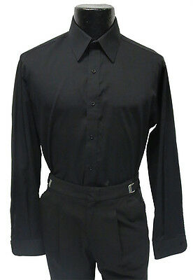ess Shirt Laydown Collar Prom Size Medium 15 - 15.5 32/33 (Tuxedo Dress Shirt)