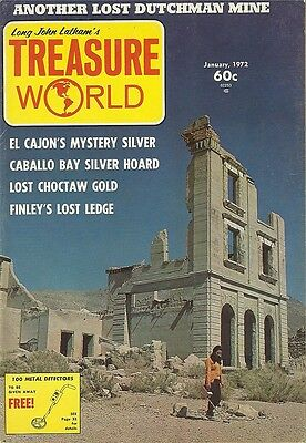 Treasure World Magazines January 1972 buried gold coins jewelry detecting #13