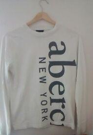 Abercrombie&Fitch Boys logo long sleeve crew tee