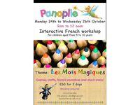 Panoplie – Half Term French Workshop
