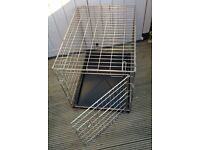 FOLDING DOG / PET CAGE (Silver) – L. 30 inch, W. 20 inches, H. 24 inches