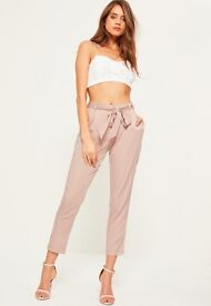 Misguided satin cigarette trousers