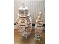 CHINESE / JAPANESE / ORIENTAL ORNAMENTAL JARS WITH LIDS