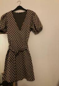 Zara A-line dress with belt