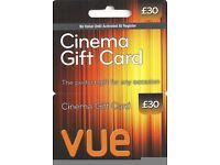 £30 VUE Cinema Gift Card