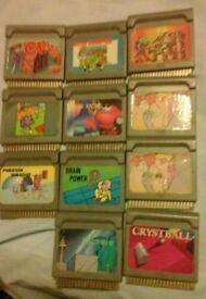 Game cartridges for quickshot supervision / cash or swaps