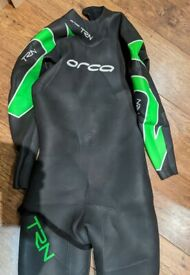 Orca TRN thermo wetsuit - green/black - Size 8 (men's medium/large)