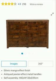 BNIB 3 Pieces Torino Mango Wood furniture