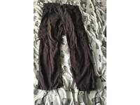 Gray cargo pants from matalan