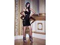 Missguided Black Bandage Dress