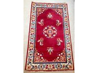 SHANSU Belgian Pure Wool Hand Knotted Red Gold Small Persian Rug (143 x 83cm)