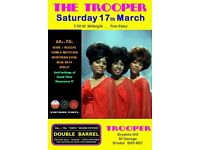 SATURDAY 17th MARCH - 60s 70s SOUL / REGGAE / MOTOWN / DISCO with DOUBLE BARREL - ST GEORGE