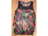 Floral Top Size 8